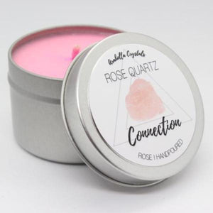 Rose Quartz Crystal Candle - 4oz