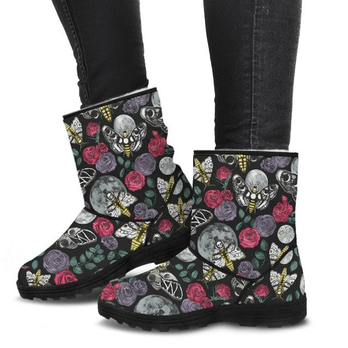 Enchanted Night - Faux Fur Boots
