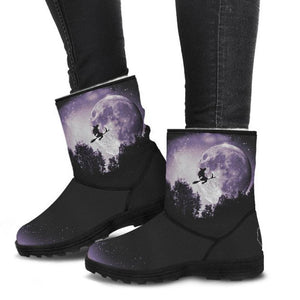 Full Moon Ride - Faux Fur Boots