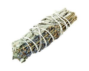 Natural Lavender + White Sage Smudge Stick - Small