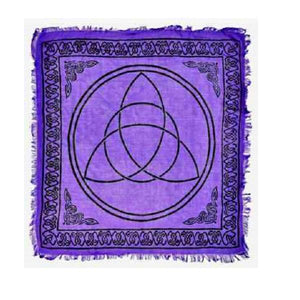 Triquetra in Purple Altar Cloth - Big