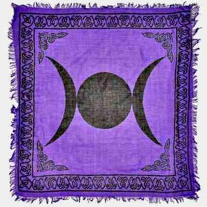 Triple Moon in Purple Altar Cloth - Big