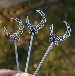 Crescent Moon Witch Hair Sticks
