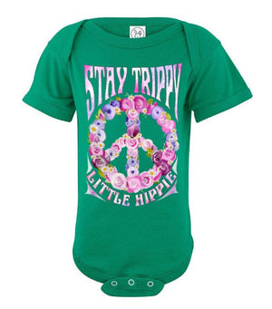 Stay trippy little hippie - Baby onesie