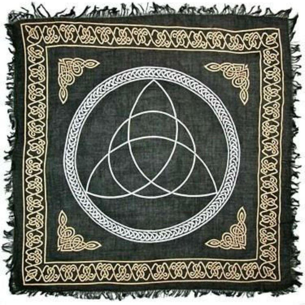 Triquetra Gold And Silver Altar Cloth   Big