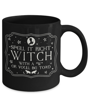 Spell it right mug