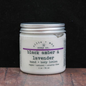 Black Amber and Lavender Vegan Body Lotion