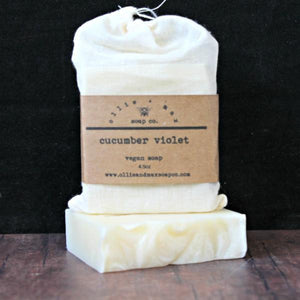 Cucumber Violet Vegan Soap