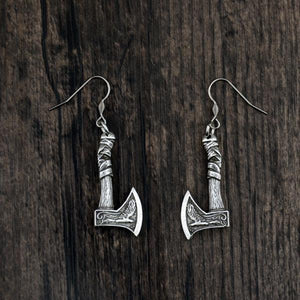 Vintage Viking Axe Earring