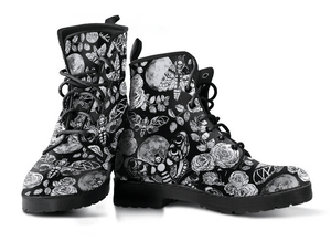 Enchanted Night Black and White - Vegan Boots.