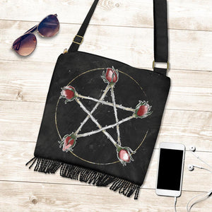 Roses Pentacle - Boho Cross-Body Bag