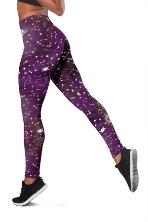 Astrology map purple leggings