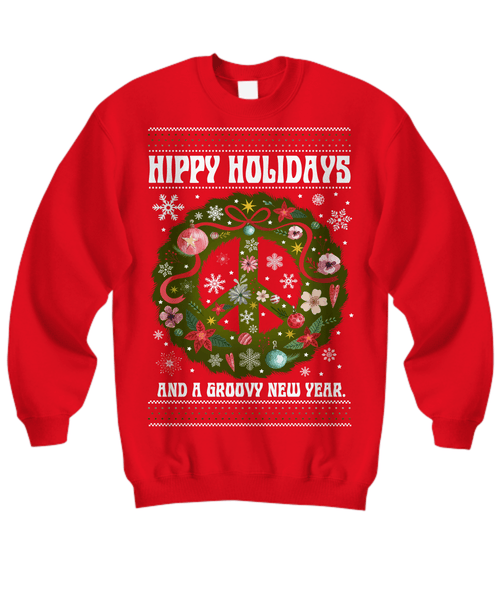 Hippy Holidays - Christmas Sweatshirt