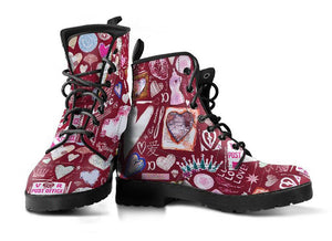 Hearts shapes boots