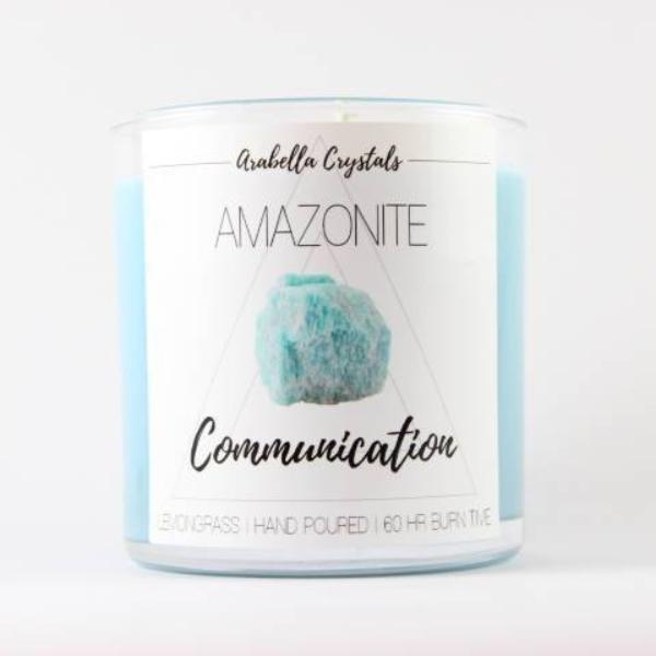Amazonite Crystal Candle - 9oz