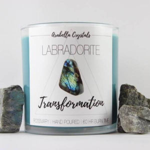 Labradorite Crystal Candle - 9oz