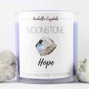 Moonstone Crystal Candle - 9oz