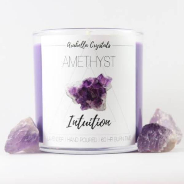 Amethyst Crystal Candle - 9oz
