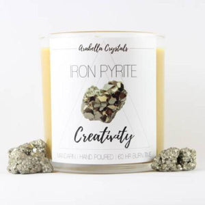 Iron Pyrite Crystal Candle - 9oz