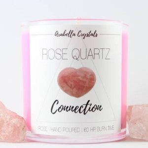 Rose Quartz Crystal Candle - 9oz
