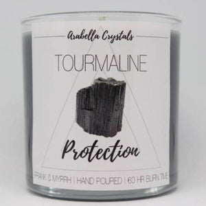 Tourmaline Crystal Candle - 9oz