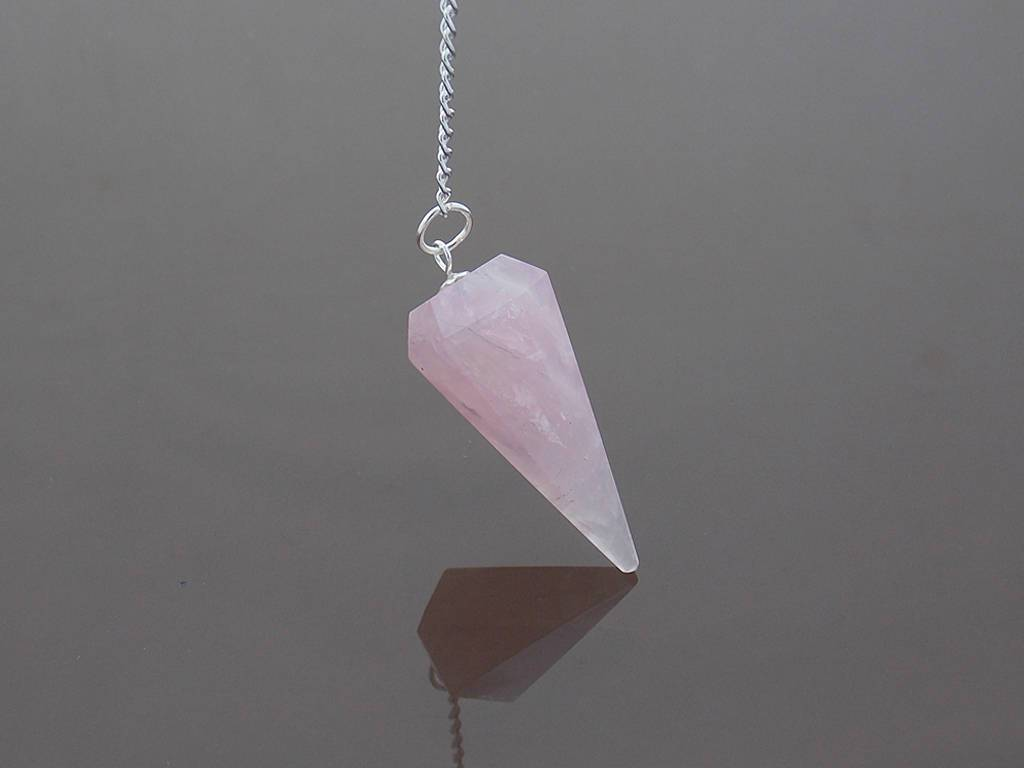 Rose quartz 6 facets pendulum