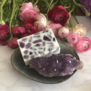 Amethyst - Crystal Massaging Bath Bar