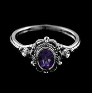 Victorian Natural Crystal Ring