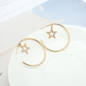 Boho Star Hoop Earrings