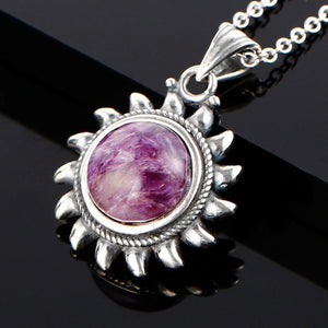 Sun Charoite Pendant Necklace
