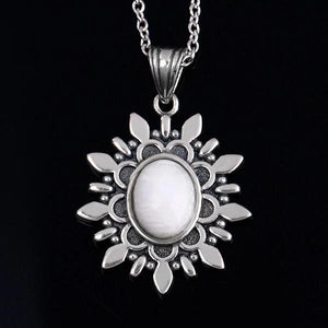 Natural Blue Light Moonstone Pendant Necklace
