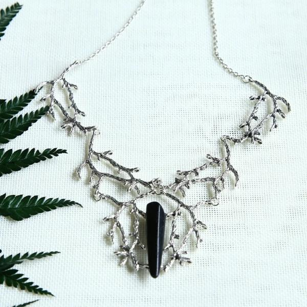 Black Quartz Gothic Necklace