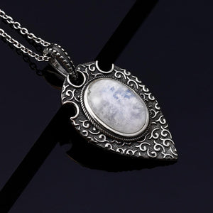 Natural Moonstone Retro Necklace
