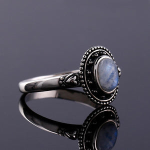 Smoky Moonstone Statement Ring