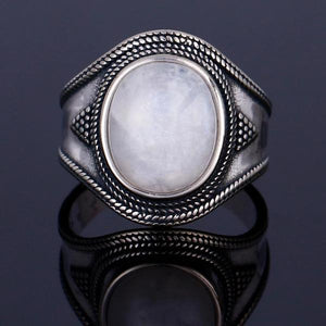 Big Oval Moonstone Ring