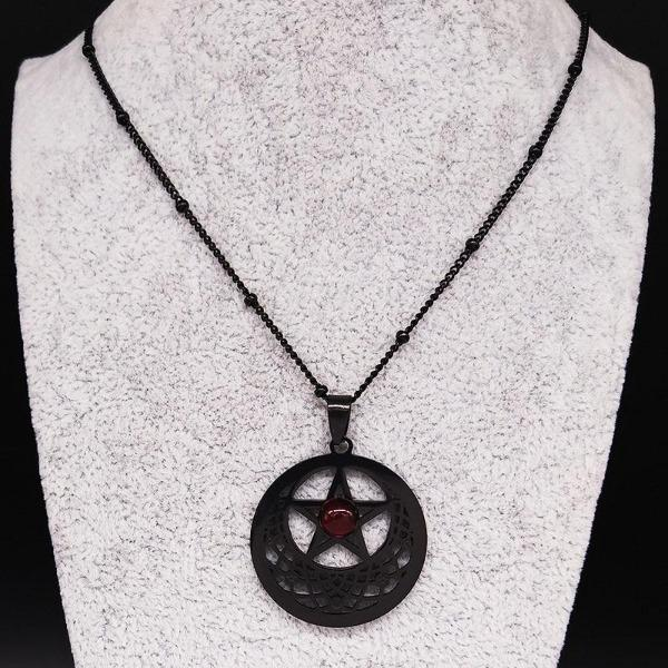 Witchcraft Pentagram Black Necklace