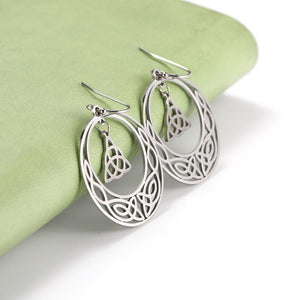 Celtic Triquetra Hoop Earrings