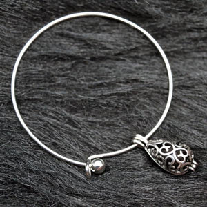 Teardrop Lava Locket Essential Oil Diffusing Expandable Bangle Bracelet