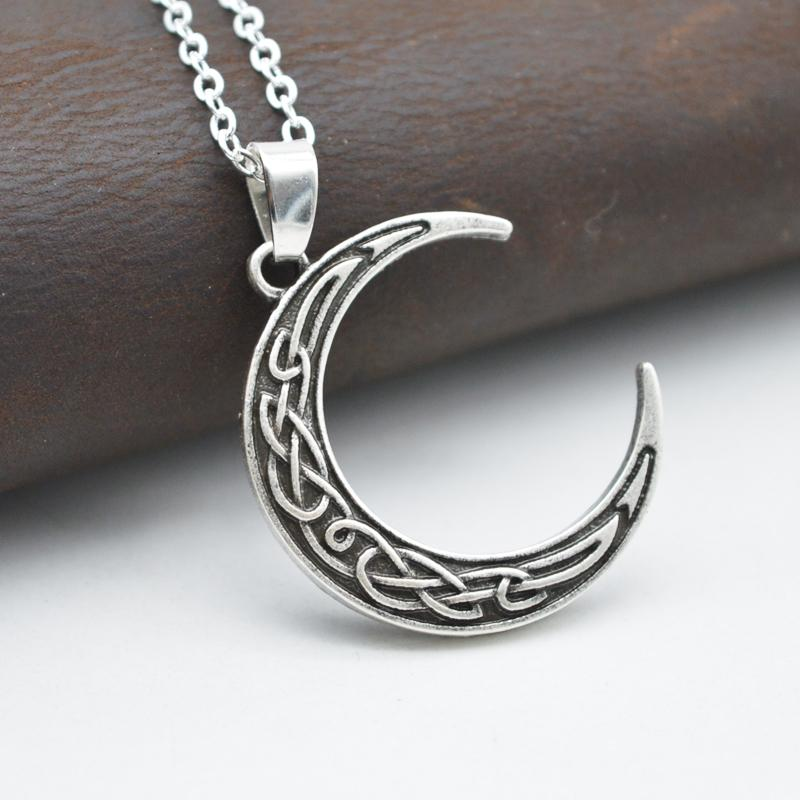 Crescent Moon Nordic Necklace