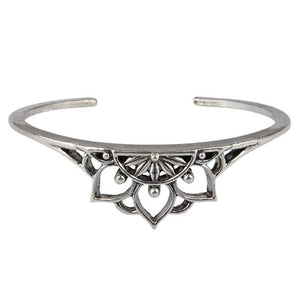 Lotus flower retro hollow bracelet