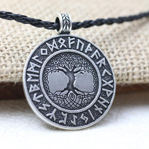 The tree of life runes amulet pendant necklace
