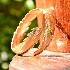 Greek goddess upper arm cuff leaf bracelet
