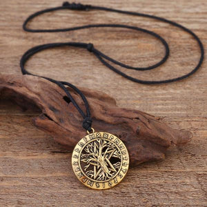 Tree Of Life Rune Pentacle Necklace