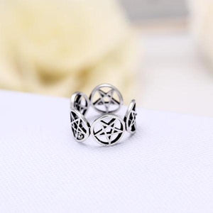 Pentacles wrap ring