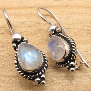 Vintage Stone Drop Earrings
