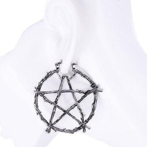 Branch pentagram earrings