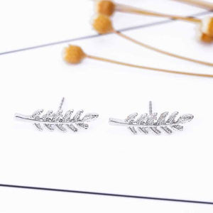 Tree Leaves Stud Earrings