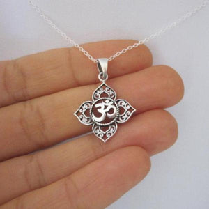OM Lotus Necklace