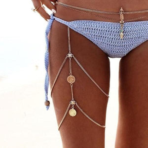 Bohemian Layered Leg Chain