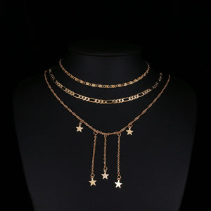 Star Shower Layered Necklace